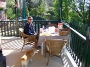 Oscar & his Dad Brian Having breakfast