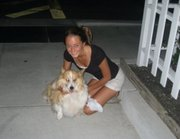 Tyler(full coat) and I about four years ago (Before his coat was ever trimmed)