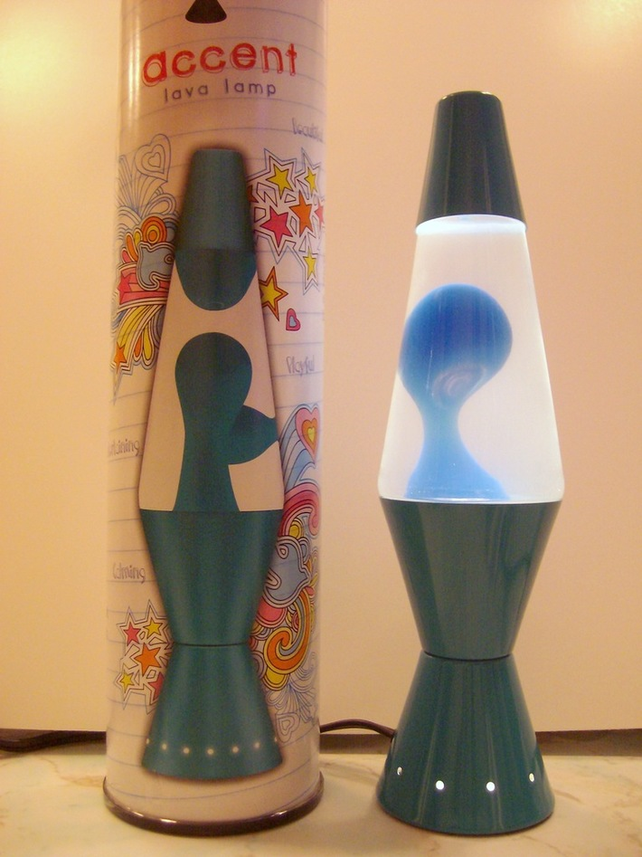 """Turquoise """"Accent"""" Lamp 1st run"""