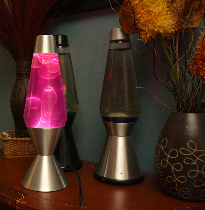 Purple/White made-in-China lamp from Lava Lite
