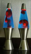 Blue / red Silver Streak Lava Lites
