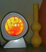 Revolving oil lamp