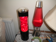 Unusual German Glitter lamp (left)