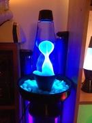 Black X-Squiggle Planter with Glow Stones