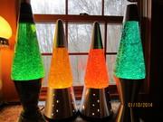 Kirk's Glitter Liquid with lamp on, no flash