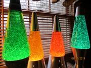 Kirk's Green, Yellow, Orange and Teal Magic Glitter