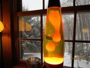 Mathmos Astro Baby Yellow/Orange Flowing with the Snow