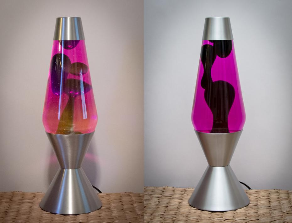 Pink/Blue 52oz. Premier lava lamp from Spencer's