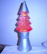 Pink Christmas tree glitter from the 90's