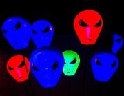 Alien Cosmic Drops under black light