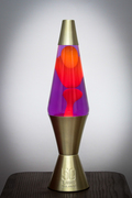 50th Anniversary Lamp - 32oz. Purple/Yellow with Gold Base and Cap