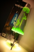 Green Carramar Volcano Lamp and box