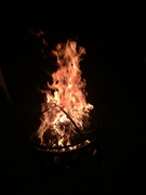 First fire in the new pit!!!