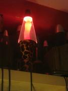 Leopard lava lamp