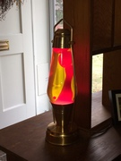Coach Lantern with Heritage red/yellow china globe