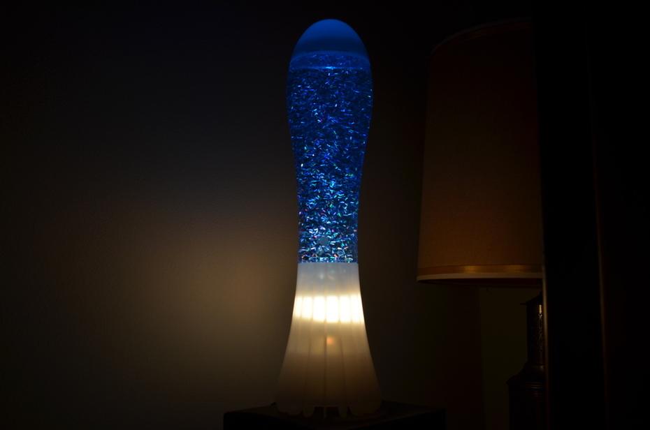 Opal Mathmos Fluidium Dark Blue halo Glitter