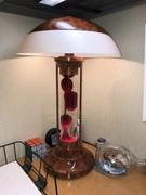 Lava table lamp - woodgrain full flow