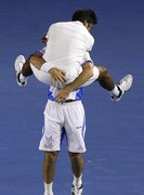 Paes and Stepanek's PDA! lol