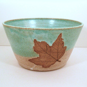 Bowl with Maple Leaf
