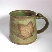 Lichen Mug with Leaf