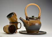 Teapot set with tray and cups