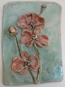 Salmon Orchids  6x8