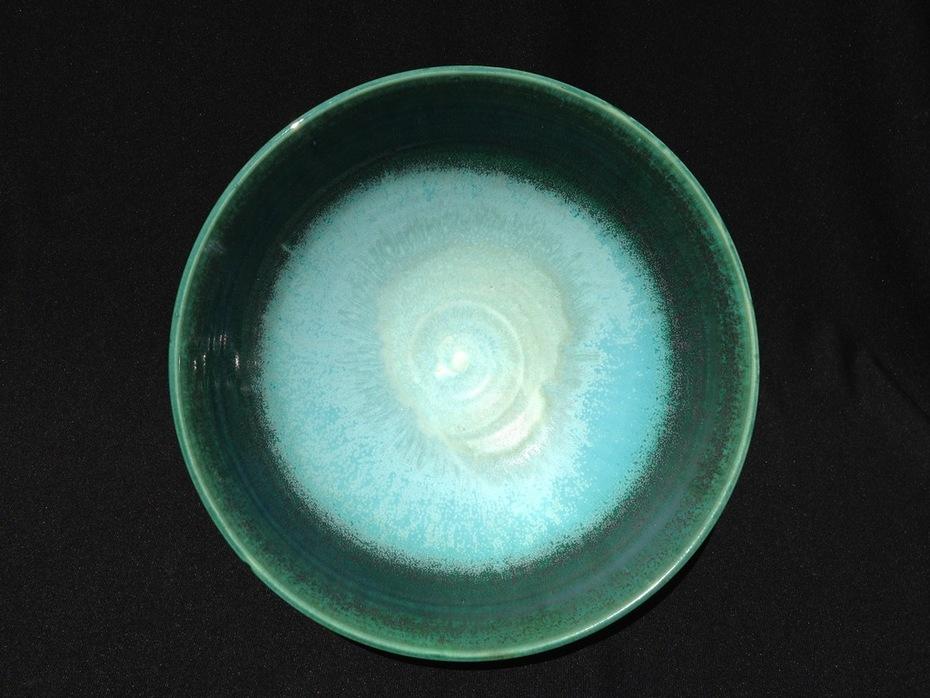 Medium Serving Bowl (SCM Cool, Watercolor Green)-2