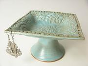 Green Jewelry Bowl, Earring Holder