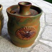 Patina Verde honey pot by Tracy Shea