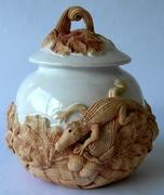 Cookie jar-oak and gator-1