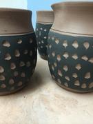 Bridges Pottery Carved Sampler  - Pitcher and Mugs