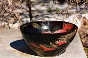 Black Orange Red Shino Bowl