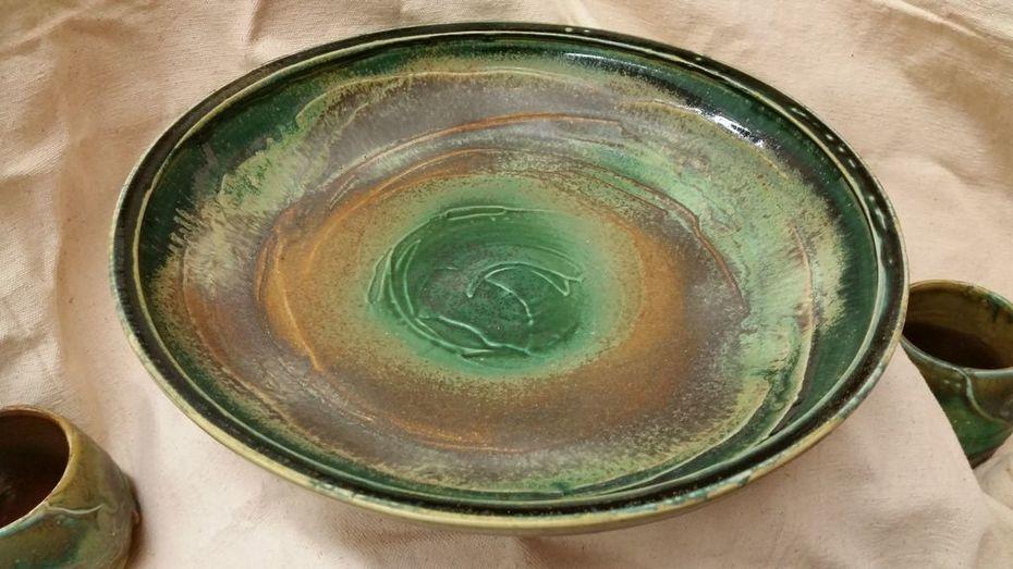 Green Bowl using SH glazes