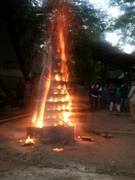opening of sculpture at 1050 degree c