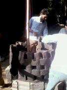 fire sculpture in making 1