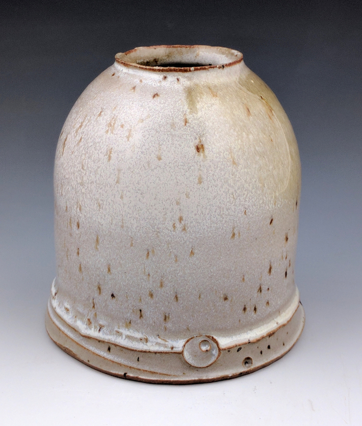 stoneware bud vase.