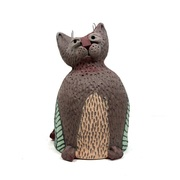 Pinched Cat Bell Greenware