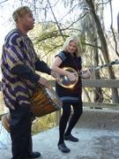 Yazid & Mary Z. Cox on Suwannee River dock
