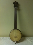 Fretless Tenor Banjo Ukulele I Made Aug 2011