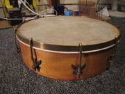 "12"" maple pot with eagle brackets"