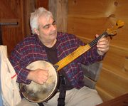 Taking my new Stichter banjo for a walk...
