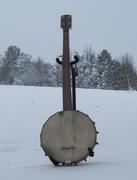 Banjo in the Snow