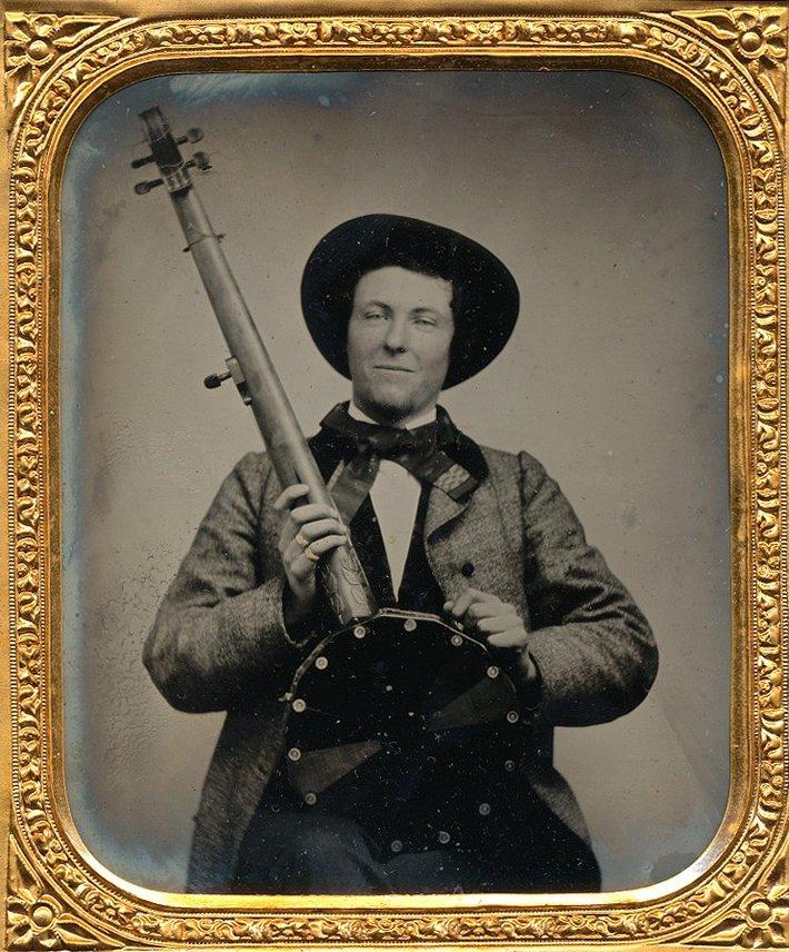 Interesting banjo.