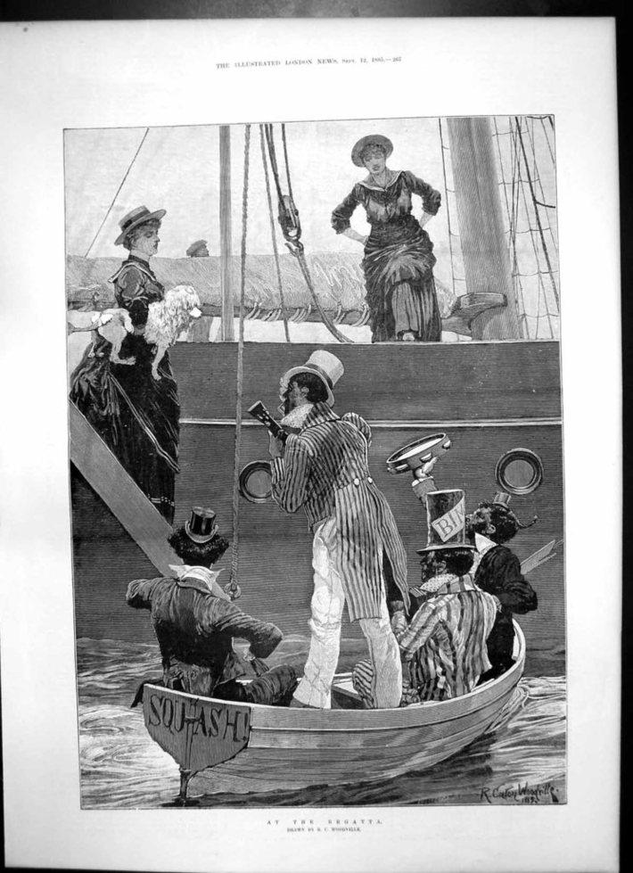 Woodville Minstrel, Britain, 1885