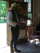 Mark in Sweeney's cabin