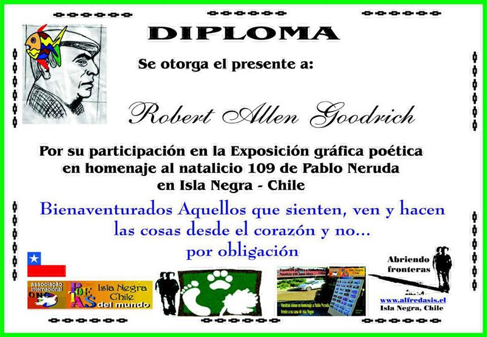diploma por participacion en homenaje a neruda 2013