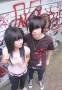 me and yuki hangingout