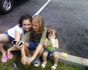Me and me Best friend Allie and my lil sister(:
