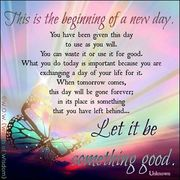 beginning of a new day