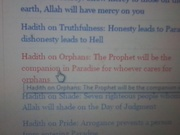 Hadith about orphans
